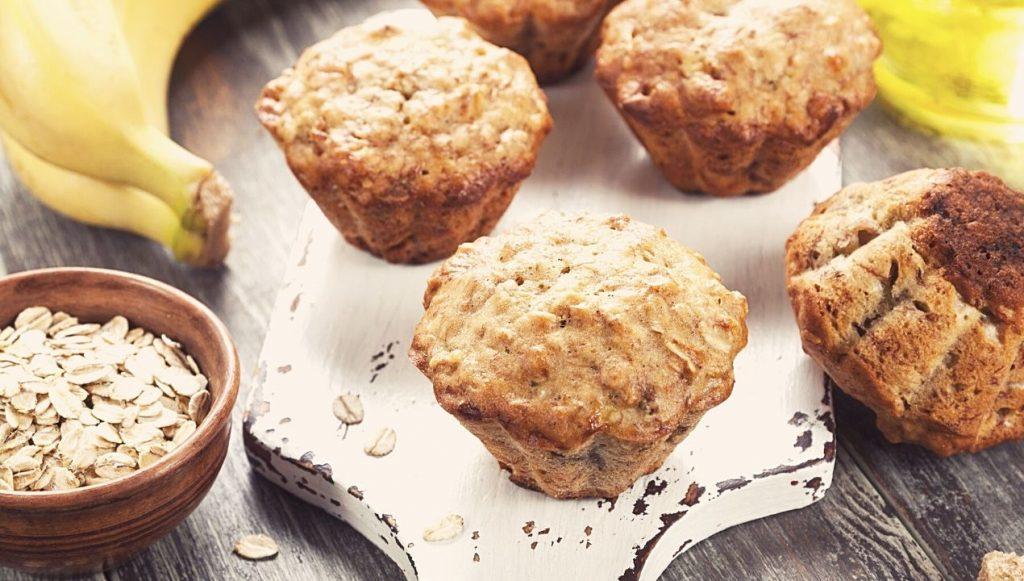 Recette muffin banane gruau